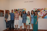 Art show at the Longview Museum of Fine Arts with students